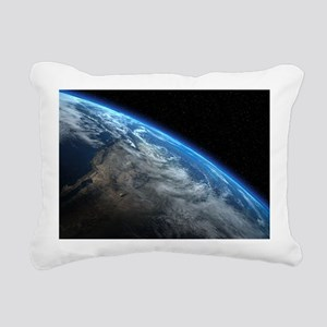 EARTH ORBIT Rectangular Canvas Pillow